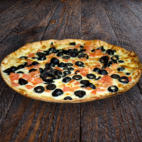 Cheese with Tomato, Olive Pizza