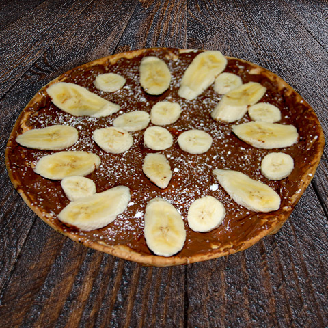 Nutella Pizza with Banana
