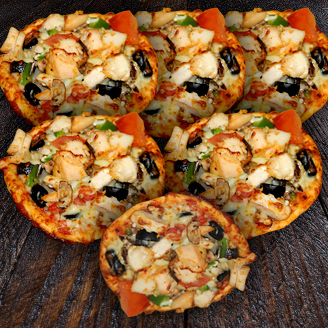 Chicken Mini Pizza 1/2 Dozen