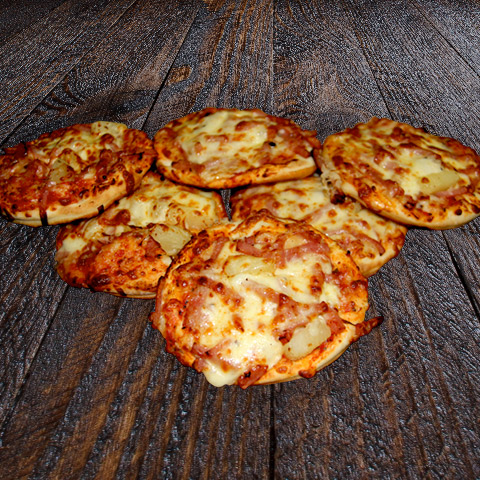Hawaiian Mini Pizza 1/2 Dozen