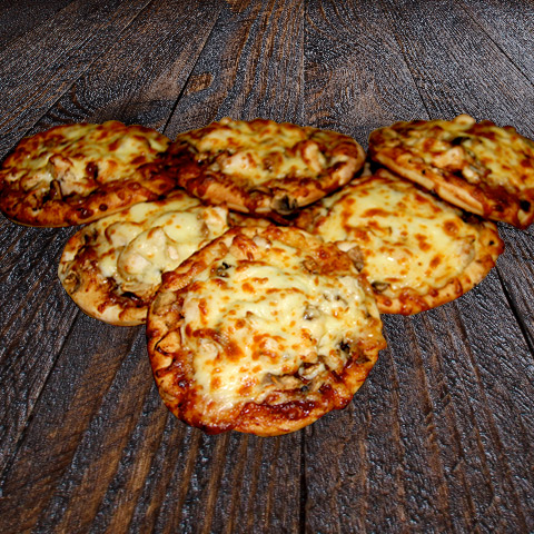 Chicken BBQ Mini Pizza 1/2 Dozen